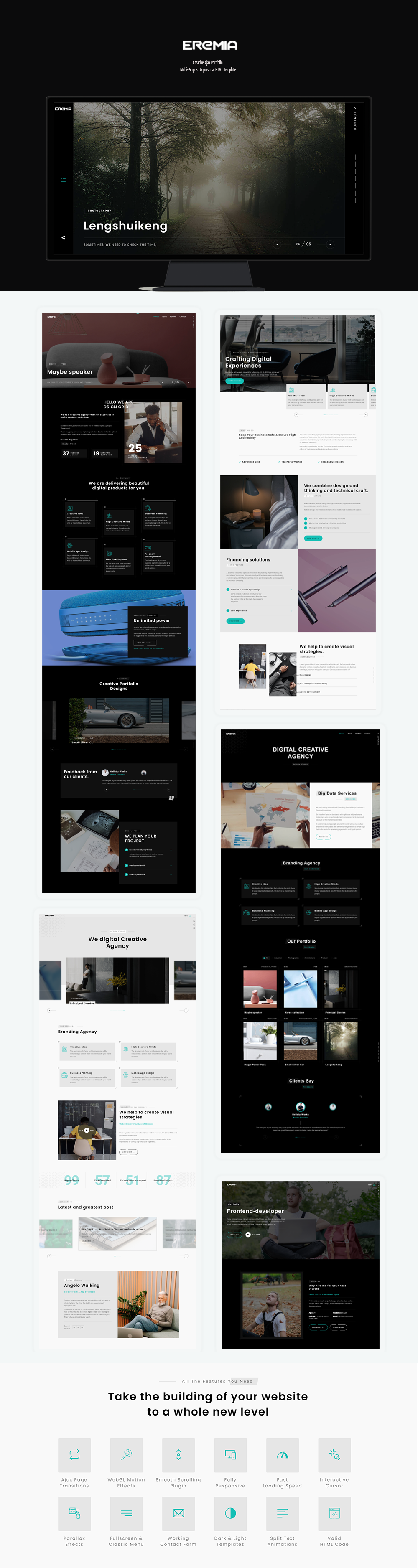 Eremia - Creative Ajax Portfolio Multi-Purpose & personal HTML Template - 1